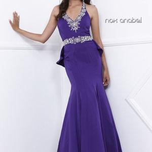 Purple Sleeveless Bridesmaid Long Dress